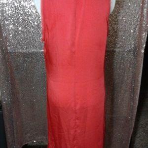 MICHAEL Michael Kors Dresses - NWOT Michael Kors Coral Raw Hem Shift Dress SZ L